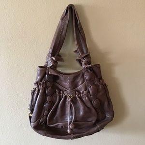 1a8de018a2 Lockheart Brown Leather Hobo Handbag